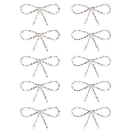 Broche para hombre Diamante de imitación exquisito lazo para trabajo, boda, fecha 2.2 x 1.1 in