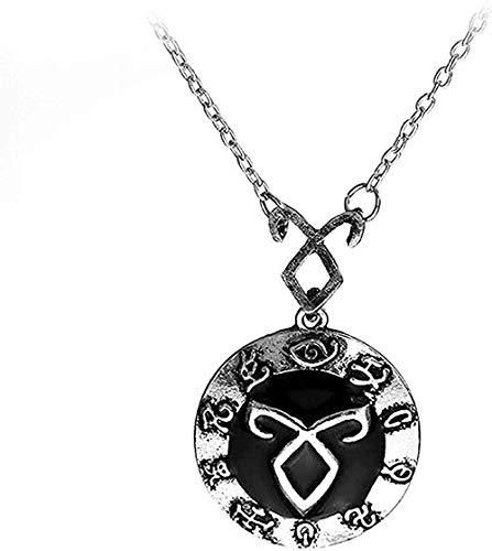 Collar The Mortal Instruments City Of Bones Collar vintage Ángel Electricidad Runas Cazadores de sombras Colgante para hombres y mujeres Regalo Chica joven