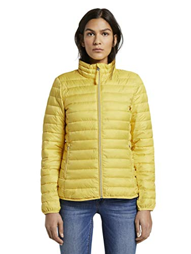 TOM TAILOR Damen Jacken & Jackets Leichte wattierte Steppjacke Jasmine Yellow,L