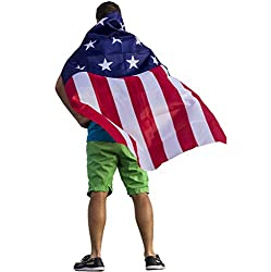 US Flag Cape Resistance Movement Costume