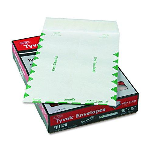 Survivor R1670 Tyvek USPS First Class Mailer, 10 x 15, White (Box of 100)
