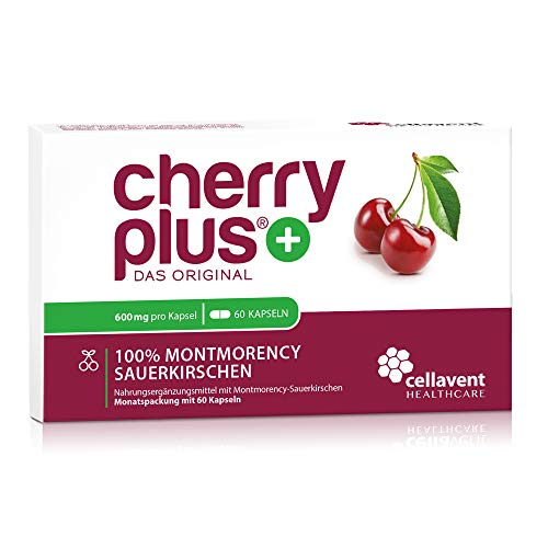 Cherry PLUS-extract van Montmorency zure kers (600mg) - 50:1 concentratie - 60 capsules zonder toevoegingen - veganistisch
