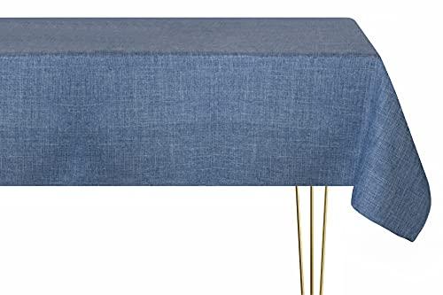 Mantel antimanchas en varios tamaños, formas y colores. Mantel cuadrado con aspecto de lino, hecho a mano, 100% poliéster, mantel de jardín 90 x 90 cm