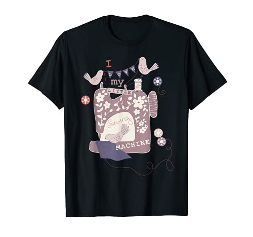 Amo mi máquina de coser Quilter de costurera de alcantarilla Camiseta