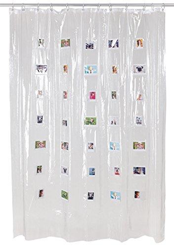 Fujifilm Instax Mini wide Duschvorhang Für 20 Instax Wide-Bilder, klar
