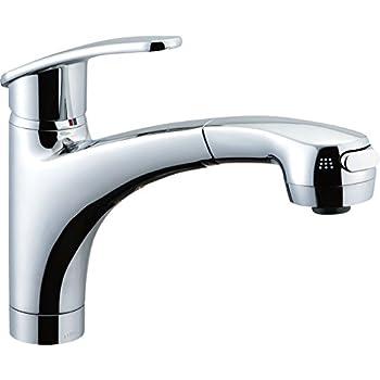 LIXIL(リクシル) INAX キッチン用水栓金具 吐水口引出式 ハンドシャワー付シングルレバー混合水栓 アウゼ(エコハンドル) 呼び径13mm 吐水口長さ250mm SF-A451SYXU