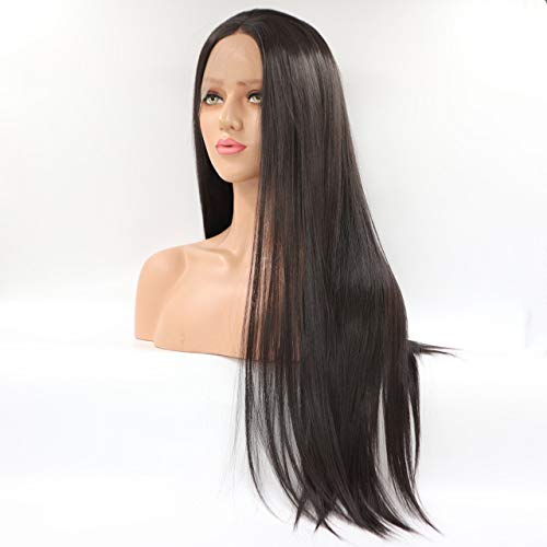 DER Lange gerade hitzebeständige Faser Honig Blonde synthetische Lace Front Perücke natürlich aussehende Lace Perücken for Frauen (Color : 2, Wig Length : 20inches)