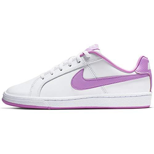 Nike Court Royale (GS), Zapatillas de Tenis para Mujer, Multicolor (White/Fuchsia Glow 000), 36.5 EU