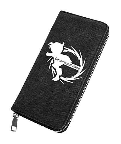 WANHONGYUE Detective Conan Case Closed Unisex Brieftasche Leinwand Geldbörse Reißverschluss Kartenhalter Leuchtend Anime-Bilddruck / 6