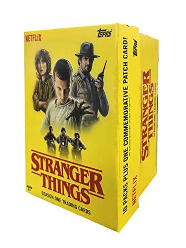 Topps Cards: Stranger Things Value Box | 1 Commemorative Patch Card inEvery Value Box | 10 Pack | All Factory Sealed, Multicolor (887521075003)