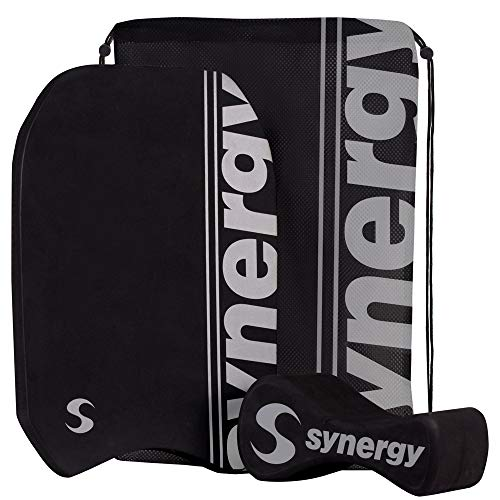 Synergy Pull Buoy, Kickboard and Swim Bag Swim Kit (Black/Silver)