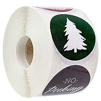KESYOO クリスマスシールステッカーホリデーステッカーロールクリスマスホリデーカードギフト封筒ボックスのクリスマス封筒シール