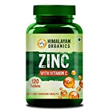 Himalayan Organics Zinc Citrate Supplement with Vitamin C & Alfalfa | Supports Healthy Immune System | 120 Veg Tablets natural testosterone muscle booster Apr, 2021