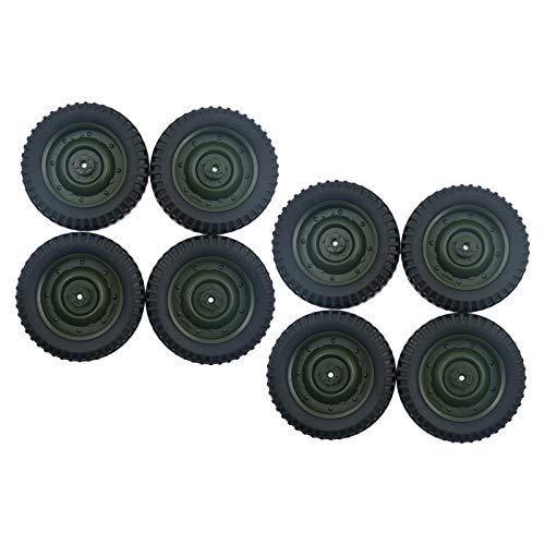lahomia Paquete de 8 Neumáticos de Plástico para Ruedas de Escala 1/16 WPL C14 C24 C34 RC Turcks