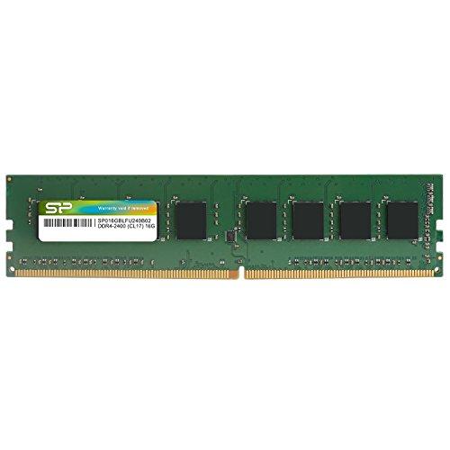 シリコンパワー デスクトップPC用メモリ DDR4-2400(PC4-19200) 16GB×1枚 288Pin 1.2V CL17 永久保証 SP016GBLFU240B02