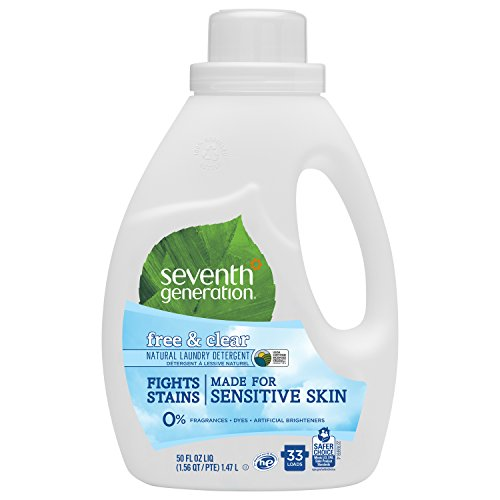 Seventh Generation Liquid Laundry Detergent, Free & Clear, 50 oz (33 Loads)