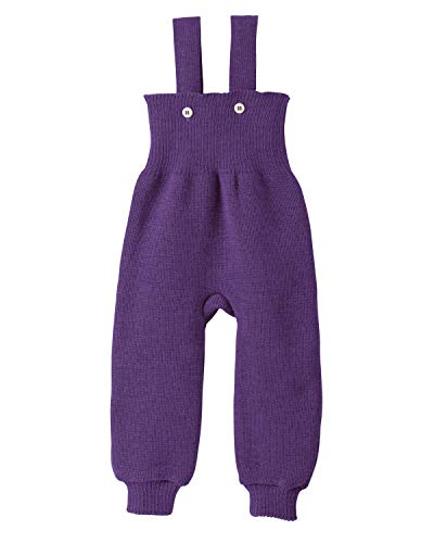 Disana 33113XX - Strick-Trägerhose Wolle pflaume, Size / Größe:86/92 (1-2 Jahre)