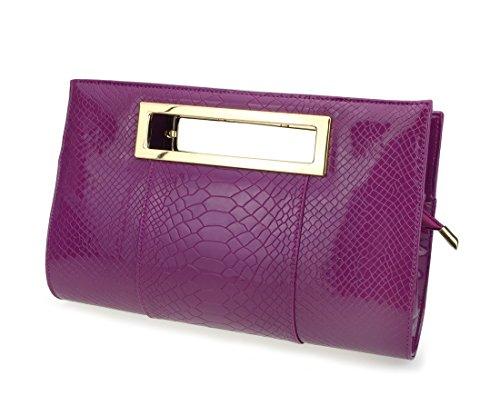 Hoxis, borsetta da donna classica, motivo coccodrillo, con tracolla