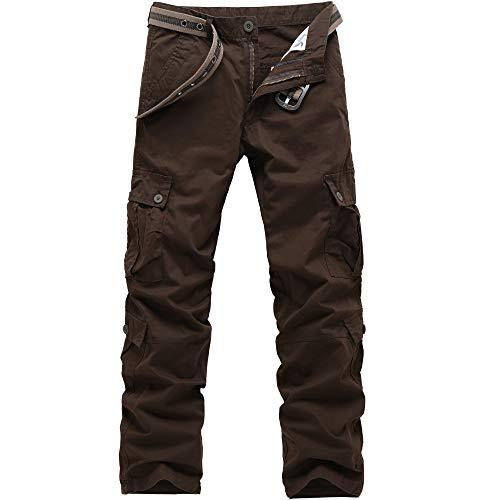 GITVIENAR Pantalon d'extérieur pour homme - Pantalon de randonnée de qualité supérieure respirant - Pour homme et adolescent. 40 marron