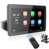 9' Single Din Touchscreen Car Stereo, aboutBit Adjustable Multimedia Receiver with PhoneLink/Built-in Bluetooth/Dual...