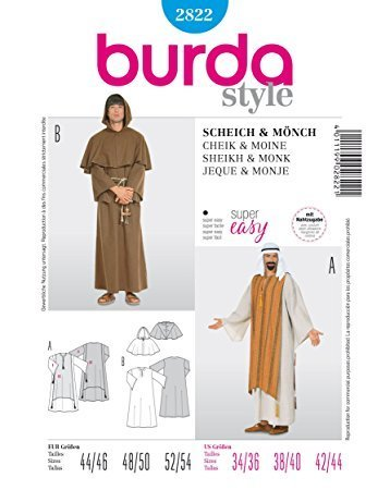 Burda 2822 Schnittmuster Kostüm Fasching Karneval Kaftan (Damen, Gr. 44-54) – Level 1 super easy