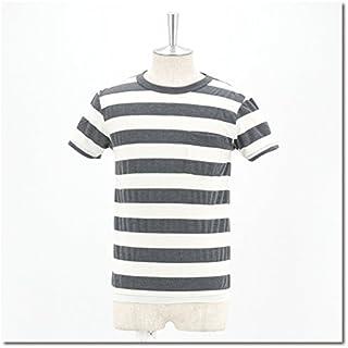Velva Sheen ベルバシーン メンズ ワイドボーダー Uネック TシャツS/S[161405] Sサイズ O.WHITE/CHA