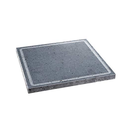 Lava Grill - Parrilla de piedra volcánica etnea, placa lijada, 30 x 30 cm, para horno y barbacoa, cocción de carne, pescado, verduras y pizza Etna Stone & Design (S)