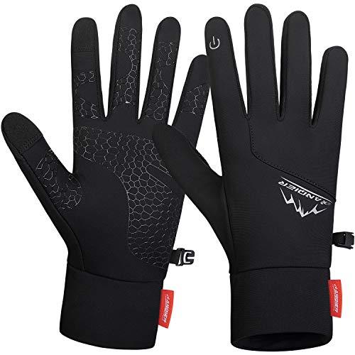 coskefy Handschuhe Fahrradhandschuhe Männer Winter Touchscreen Handschuhe Winddicht rutschfest Atmungsaktiv Winterhandschuhe zum Camping Wandern Bergsteigen Radfahren Laufen Klettern, M
