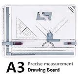 A3 Disegno Bordo, Preciva 50x36,5 CM Tavola Disegno A3 Tecnigrafo Portatile Drawing Board per Art Architettura