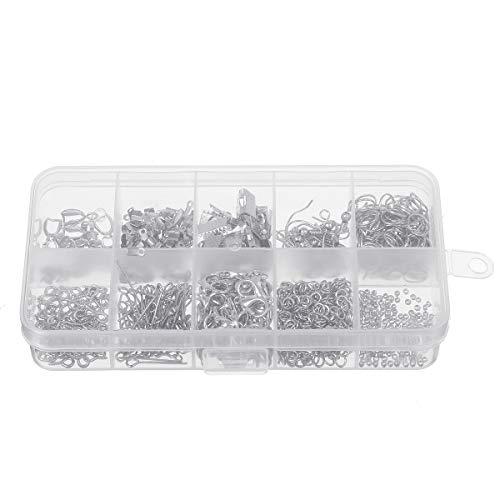 QIEP Juego de 900 ganchos de metal para niñas, para hacer cuentas, para hacer joyas (# 2)