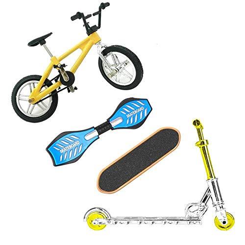 Bicicletas Mini Dedo Deportes Juguetes Set Mini Scooter Patinetas Columpio Juego de Mesa del Cerebro por los favores de Partido de los Cabritos del Dedo del Juguete Educativo del Regalo 4 Piezas