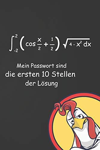 Mein Passwort sind die ersten 10 Stellen der Lösung: Lustiges Passwort Buch mit Register   Perfekt zum Verwalten von Passwörtern, Zugangsdaten und PINs