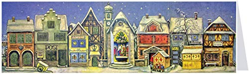 Richard Sellmer Verlag Little Town Advent Calendar - Panoramic Christmas Count Down Holiday Decor - Small Size