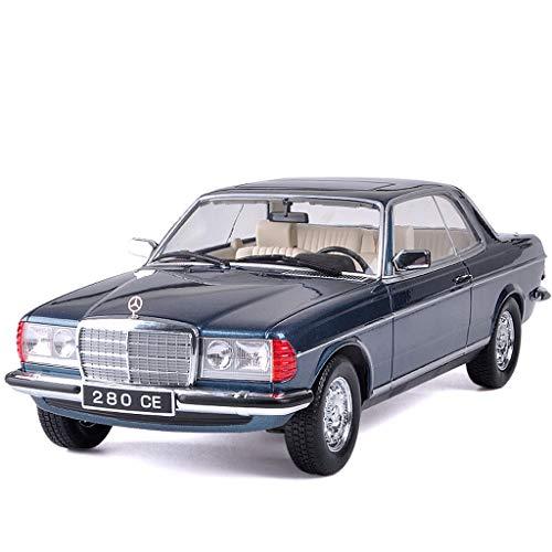 GYZS-TOY 01:18 modèle de Voiture/Compatible avec Mercedes Benz 280CE / Classic Car ne Peut Pas Ouvrir la Porte Simulation en Alliage modèle de Voiture (Color : Blue)