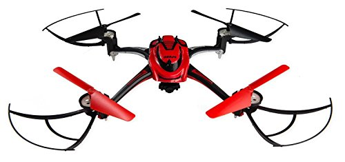 Space Rails 4-CH 2.4GHz Remote Control 6-Axis Quadcopter - Red