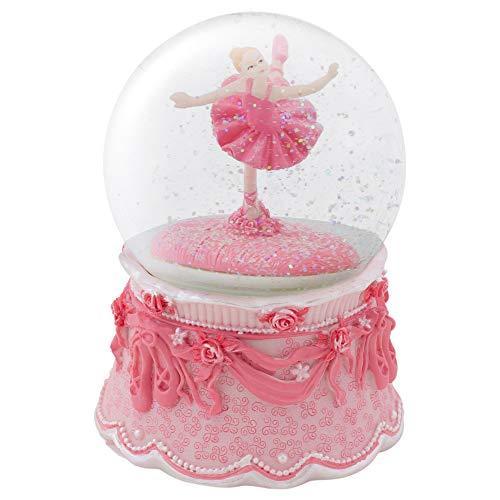 Ballerina Arabesque Pose Rotating Figurine 100MM Water Globe Plays Tune Swan Lake