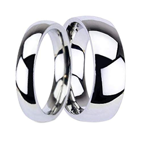 LaRaso & Co Titanium Matching His and Hers Wedding Bands Ring Set for Him and Her Men Women