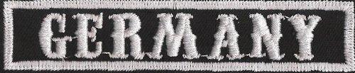 Patches Aufnäher Germany Namensschild SOA Biker Rangabzeichen Rankpatch Anarchy Motorcycle Club MC Ranks DIY Aufbügler Motorrad Kutte Abzeichen aufbügeln Aufkleber Deutschland Iron on Patch 100x20mm