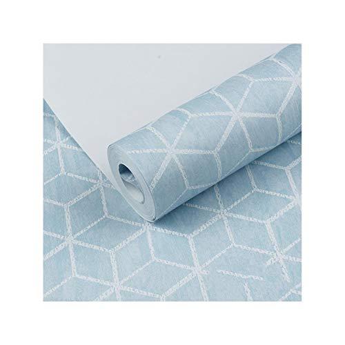 sknonr Vliesfarbe Mode Tapete, einfache Farbe Tapete Wohnzimmer Schlafzimmer Esszimmer Hintergrund Wandhaus (Color : Blue)