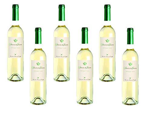 Señorio de Iniesta. Vino blanco, 100% Sauvignon blanco vino de la tierra de castilla. Caja de 6 botellas.