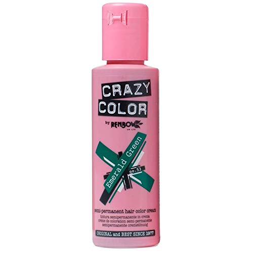 Crazy Color - Coloration fugace 100 ml emeral green