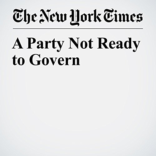 A Party Not Ready to Govern copertina