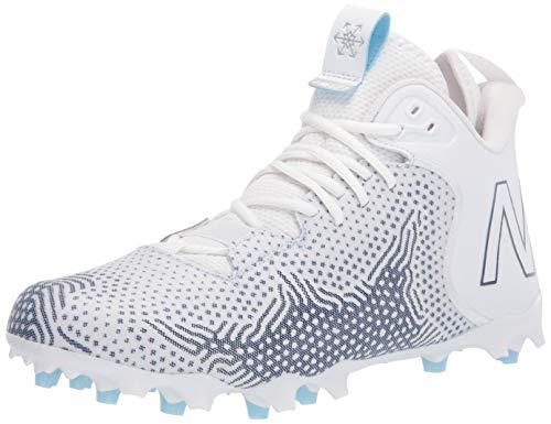New Balance Men's Freeze V3 Agility Lacrosse Shoe, White/Navy, 9.5