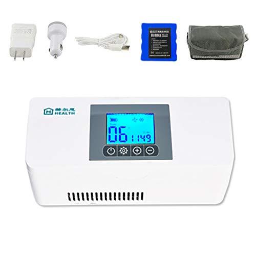Diabete Mini Frigo, L'insulina Portatile Frigo, Refrigeratore di Viaggio, Custodia Insulina, Ricaricabile, Temperatura di Conservazione di 2-8 ° C
