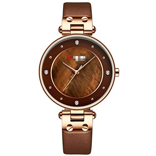 Eenvoudige Strass Charmante Horloge Voor Dames Quartz Horloges Lederen Band Klok Vrouwelijke Polshorloge Jurk Dameshorloge
