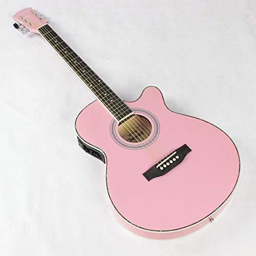 HUANH 40 pulgadas guitarra acústica guitarra acústica jita caja de cuerpo de...