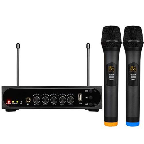 Draadloze microfoon-karaoke-microfoon, met bluetooth-ontvanger-systeem, UHF-handmicrofoon met duurzame tuning voor zang speech kerk