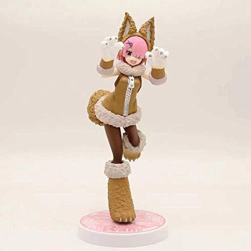JINFENFG La Vida en un Mundo Diferente de Scratch Ram Wolf y Las Siete Cabras muñeca Modelo en Caja Decoraciones de Paisaje Juguetes
