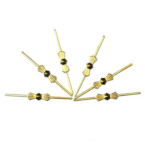 300 clips de metal con forma de mariposa para cristales de cierre, cristales Feng Shui, cristales de candelabro, cristales de lámpara, cristales de luz de techo Oro de 45 mm