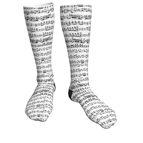 Calze Lunghe Calzettoni Retro spartiti per pianoforte note calze a compressione calzini divertenti 50CM